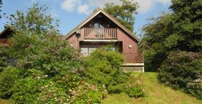 Trewince Holiday Lodges along Percuil River