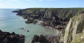 St Non's Bay and Porth Clais from St David's