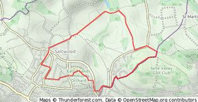 Saltwood to Backhouse hill and back
