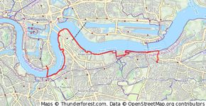 Thames Path: Woolwich Arsenal to Greenwich tunnel