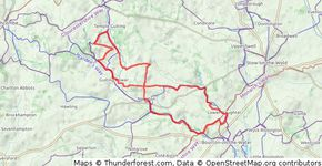 Guiting Power route from MTB Cotswolds