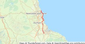 Middlesbrough to Whitley Bay
