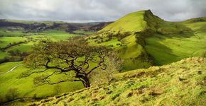 Parkhouse Hill and Chrome Hill from Earl Sterndale